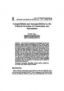 Compatibilities and Incompatibilities in the Political Doctrines of ...