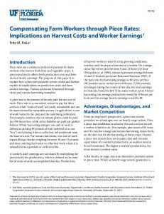 Compensating Farm Workers through Piece Rates ... - CiteSeerX