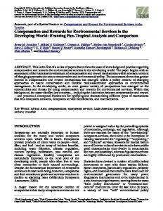 Compensation and Rewards for Environmental Services in the ...