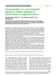Compensation for environmental asbestos-related ...