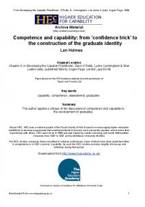 Competence and capability: from 'confidence trick' - CiteSeerX
