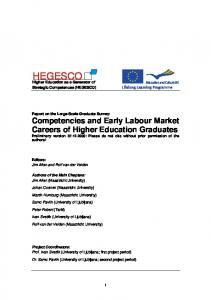 Competencies and Early Labour Market Careers of Higher Education ...