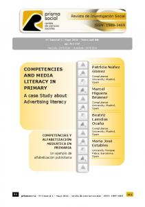 Competencies and media literacy in primary