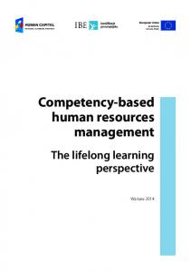 Competency-based human resources management