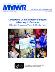 Competency Guidelines for Public Health Laboratory Professionals