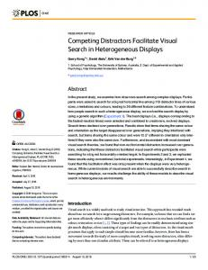 Competing Distractors Facilitate Visual Search in Heterogeneous ...