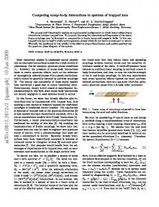 Competing many-body interactions in systems of trapped ions