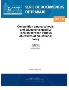 Competition among schools and educational quality