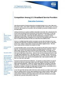 Competition Among US Broadband Service Providers - Office of the