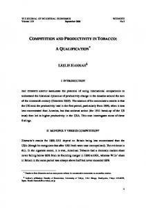 competition and productivity in tobacco - CiteSeerX