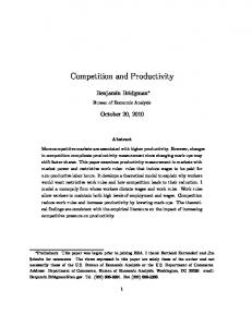 Competition and Productivity