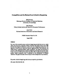 Competition and the Retreat from Collective Bargaining