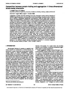 Competition between protein folding and aggregation: A three ...