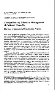 Competition by Effective Management of Cultural ...