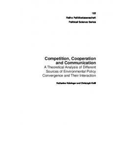 Competition, Cooperation and Communication - Archive of European ...