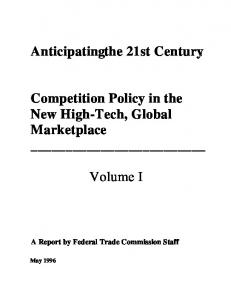 Competition Policy in the New High-Tech, Global Marketplace