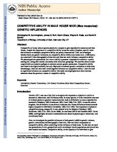 COMPETITIVE ABILITY IN MALE HOUSE MICE (Mus musculus ...
