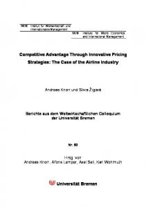 Competitive Advantage Through Innovative Pricing Strategies: The ...