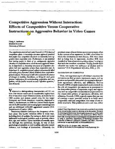 Competitive Aggression Without Interaction: Effects of Competitive ...