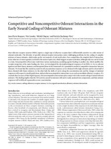 Competitive and Noncompetitive Odorant ... - Semantic Scholar