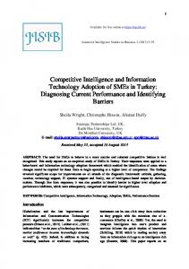 Competitive Intelligence and Information Technology Adoption of ...