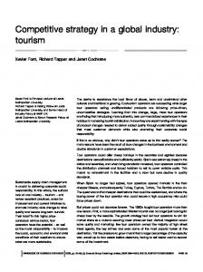 Competitive strategy in a global industry: tourism
