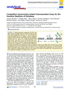 Competitive Upconversion-Linked Immunosorbent ... - ACS Publications