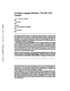 Compiling Language Definitions: The ASF+ SDF Compiler