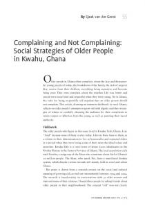 Complaining and not Complaining: Social Strategies of Older People ...