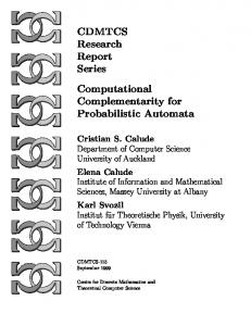 Complementarity for Probabilistic Automata