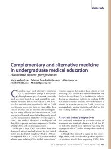 Complementary and alternative medicine in ... - Europe PMC