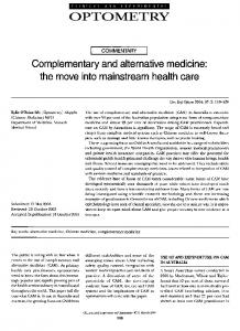 Complementary and alternative medicine: the ... - Wiley Online Library