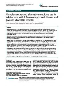 Complementary and alternative medicine use in ... - BioMedSearch