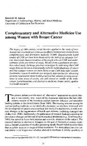 Complementary and Alternative Medicine Use ... - Wiley Online Library