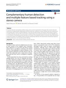 Complementary human detection and multiple feature based tracking ...