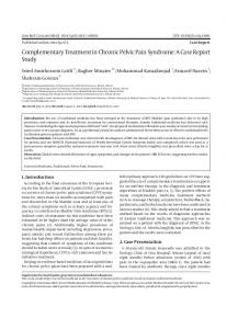 Complementary Treatment in Chronic Pelvic Pain ... - BioMedSearch