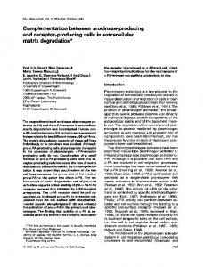 Complementation between urokinase-producing and ... - Europe PMC