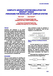 complete aircraft system simulation for aircraft design