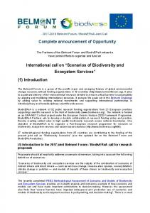 Complete announcement of Opportunity International callon ...