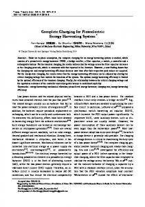 Complete Charging for Piezoelectric Energy Harvesting System*