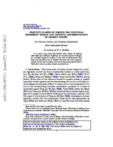 Complete classes of designs for nonlinear regression models ... - arXiv