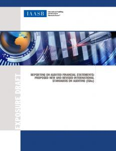 Complete Exposure Draft, Reporting on Audited Financial ... - IFAC