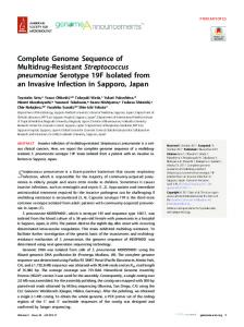 Complete genome sequence of multidrug-resistant Streptococcus ...