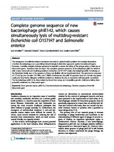Complete genome sequence of new