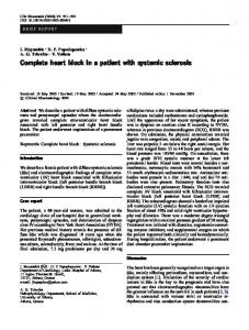 Complete heart block in a patient with systemic sclerosis - Springer Link