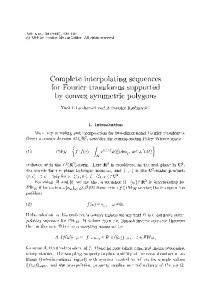 Complete interpolating sequences for Fourier ... - Project Euclid
