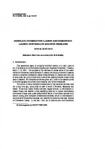 COMPLETE INTERSECTION LIAISON AND GORENSTEIN LIAISON ...