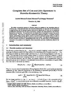 Complete Set of Cut-and-Join Operators in Hurwitz-Kontsevich Theory