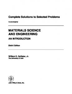 Complete Solutions to Selected Problems