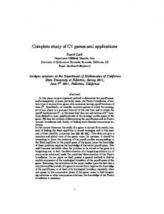 Complete study of C1 games and applications
